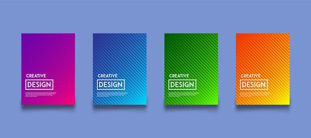 Ensemble de modèles de conception de fond dégradé de couleur moderne