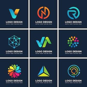 Ensemble de modèles de conception de logo moderne