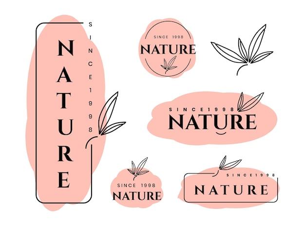 Ensemble de modèles de conception de logo