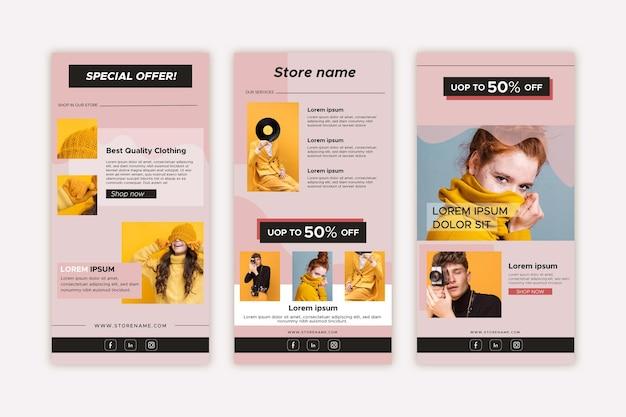 Ensemble de modèles de courrier électronique de commerce électronique