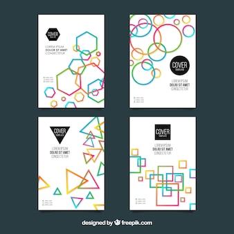 Ensemble de modèles de couverture avec un design géométrique