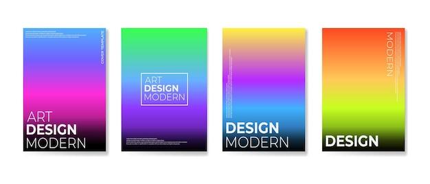 Ensemble de modèles de couverture d'été. dégradés créatifs aux couleurs de l'été