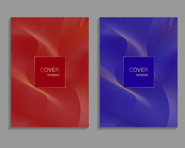 Ensemble de modèles de couverture de luxe. conception de couverture vectorielle pour pancartes, bannières, dépliants, présentations et cartes