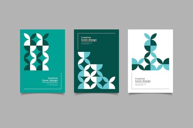 Ensemble de modèles de couverture rétro géométrique