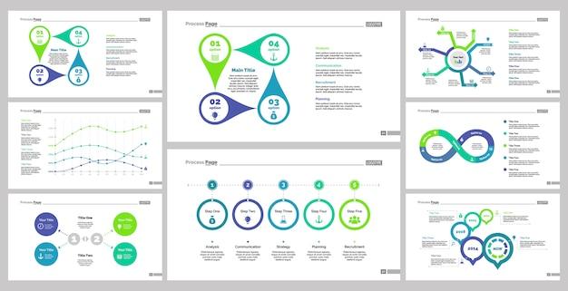 Ensemble de modèles de diapositives huit finances