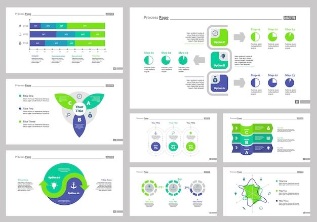 Ensemble de modèles de diapositives de huit recherches