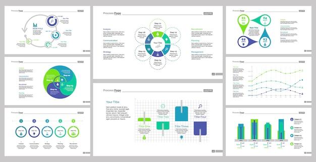 Ensemble de modèles de diapositives de huit statistiques