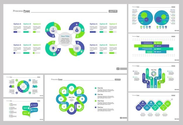 Ensemble de modèles de diapositives logistiques huit