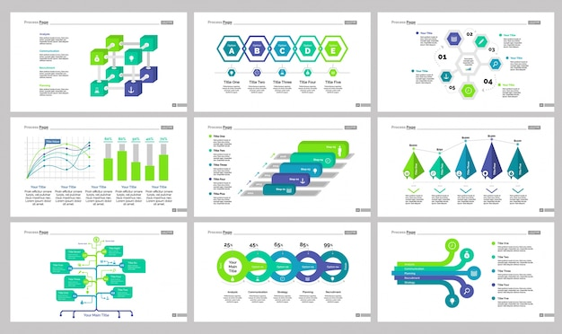 Ensemble de modèles de diapositives de nine analytics