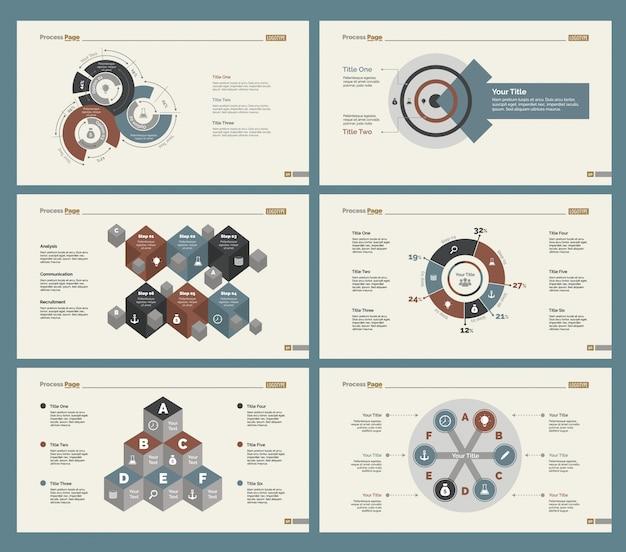 Ensemble de modèles de diapositives à six équipes
