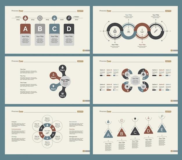 Ensemble de modèles de diapositives six production