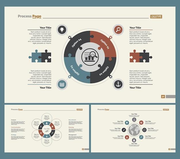 Ensemble de modèles de diapositives trois logistique