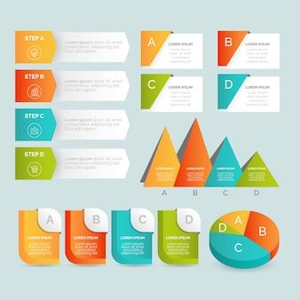 Ensemble de modèles d'éléments de gradient d'infographie