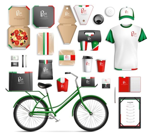 Ensemble de modèles d'emballage fastfood
