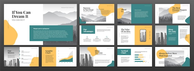 Ensemble de modèles d'entreprise de présentation moderne.
