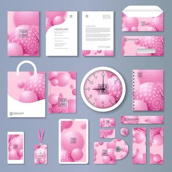 Ensemble de modèles d'identité d'entreprise. conception de marque. modèle vierge. maquette de papeterie d'affaires avec logo. grande collection.