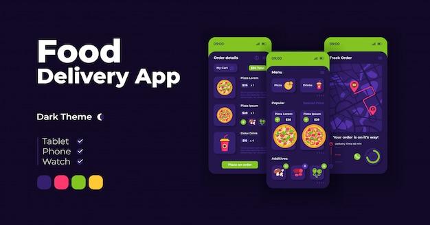 Ensemble de modèles d'interface de smartphone de dessin animé de promotion en ligne
