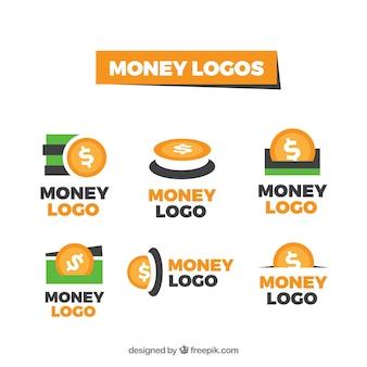 Ensemble de modèles de logo d'argent
