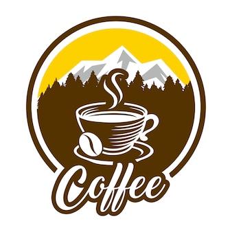Ensemble de modèles de logo café