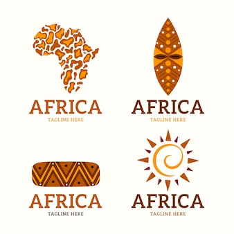 Ensemble de modèles de logo de carte afrique