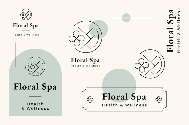 Ensemble de modèles de logo de centre de santé