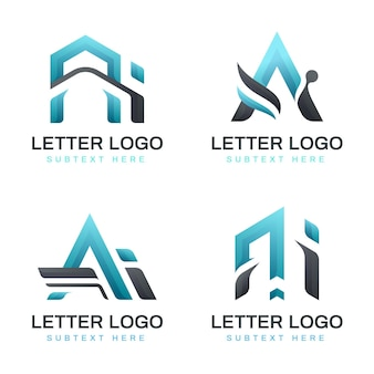 Ensemble de modèles de logo dégradé ai