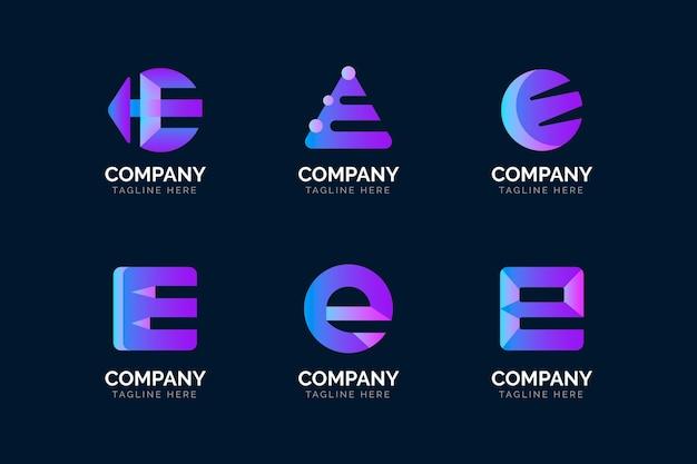 Ensemble de modèles de logo dégradé e