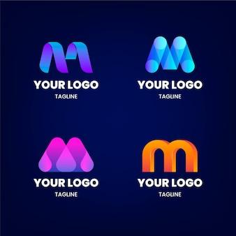 Ensemble de modèles de logo dégradé m