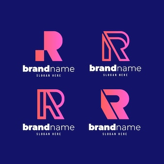 Ensemble de modèles de logo dégradé r