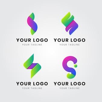 Ensemble de modèles de logo dégradé