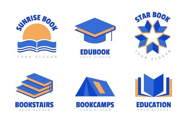 Ensemble de modèles de logo de livre