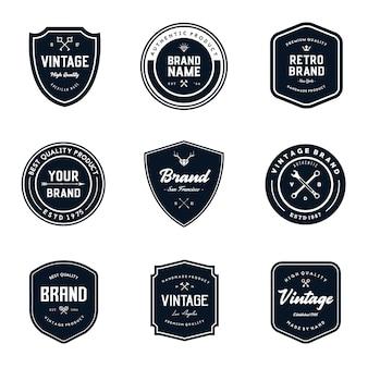 Ensemble de modèles de logo vintage badges