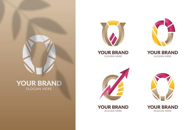 Ensemble de modèles de logos dégradé o