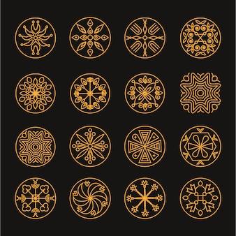 Ensemble de modèles de luxe monogramme logo design
