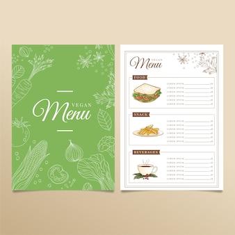 Ensemble de modèles de menu de restaurant