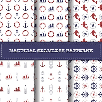 Ensemble de modèles nautiques sans soudure de vecteur