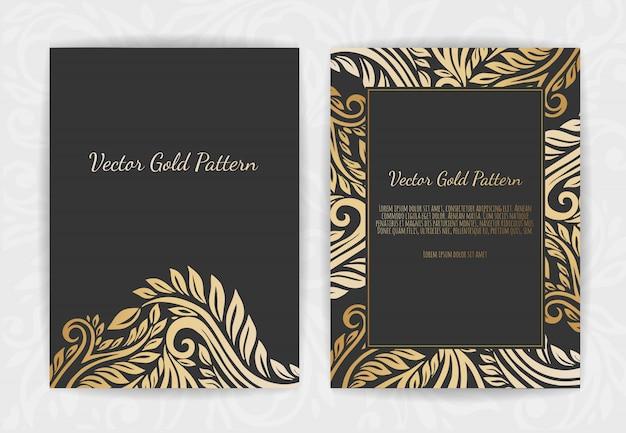 Ensemble de modèles noir et or