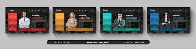 Ensemble de modèles de page de destination d'entreprise