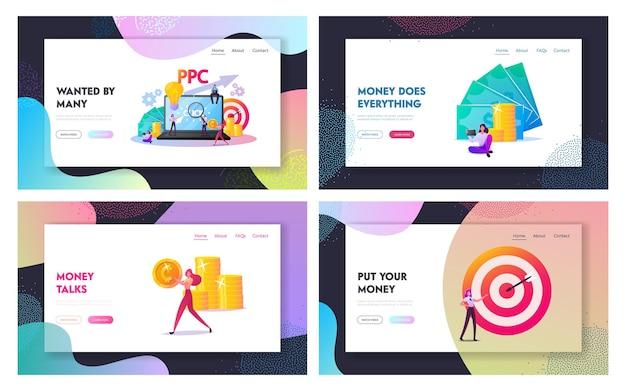Ensemble de modèles de page de destination pay per click.