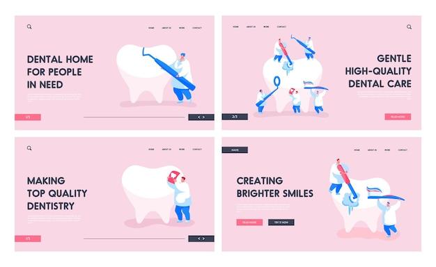 Ensemble de modèles de page de destination pour soins dentaires