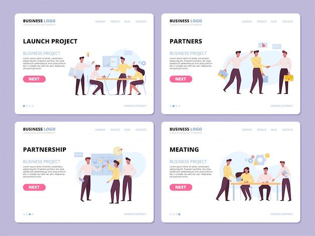 Ensemble de modèles de pages de destination d'entreprise réussies