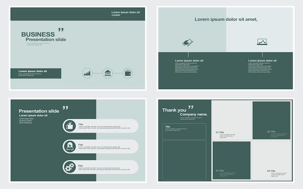 Ensemble de modèles de présentation stock illustration modèle infographie diaporama plan document