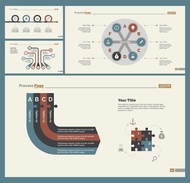 Ensemble de modèles de quatre stratégies de diapositives