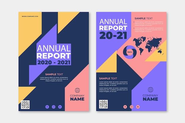 Ensemble de modèles de rapport annuel abstrait 2020/2021