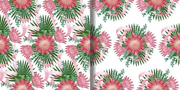 Ensemble de modèles sans couture avec bouquet tropical