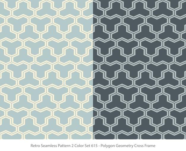 Ensemble de modèles sans couture avec cadre de géométrie polygone