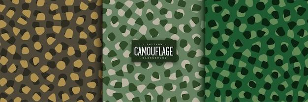 Ensemble de modèles sans couture de camouflage abstrait