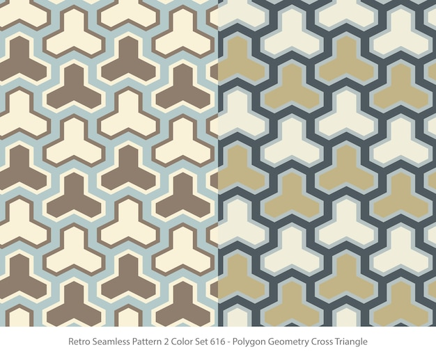 Ensemble de modèles sans couture avec triangle de géométrie polygone