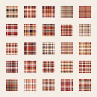 Ensemble de modèles sans couture. vérifiez la texture du tissu écossais. fond de conception plate couleur rouge, bleu, or. modèle pour papier d'emballage