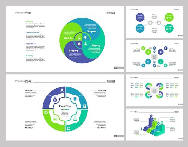 Ensemble de modèles de six stratégies de diapositives